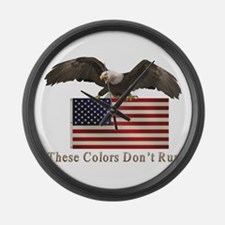 These Colors Don't Run Large Wall Clock