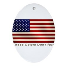 These Colors Don't Run Ornament (Oval)