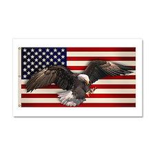 American Flag w/Eagle Car Magnet 20 x 12