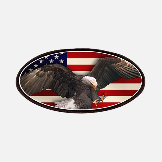 American Flag w/Eagle Patches