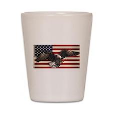 American Flag w/Eagle Shot Glass