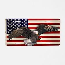 American Flag w/Eagle Aluminum License Plate