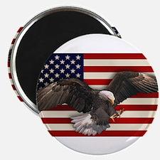 "American Flag w/Eagle 2.25"" Magnet (100 pack)"