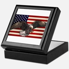 American Flag w/Eagle Keepsake Box