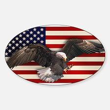 American Flag w/Eagle Decal
