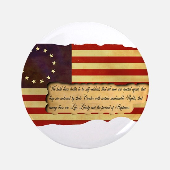 """Old Glory 3.5"""" Button"""