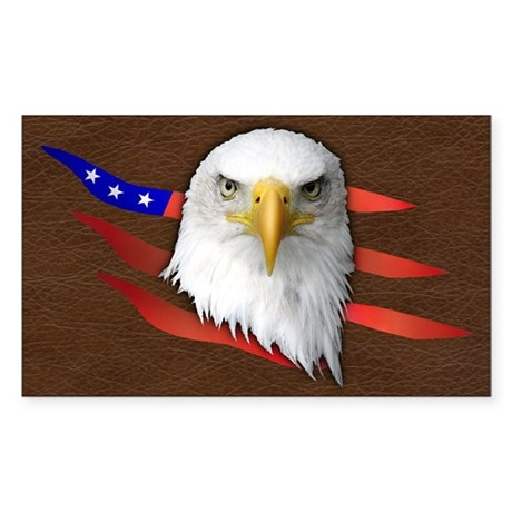 American Eagle Sticker (Rectangle 50 pk)