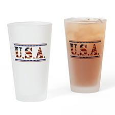 USA Stars/Strips Drinking Glass