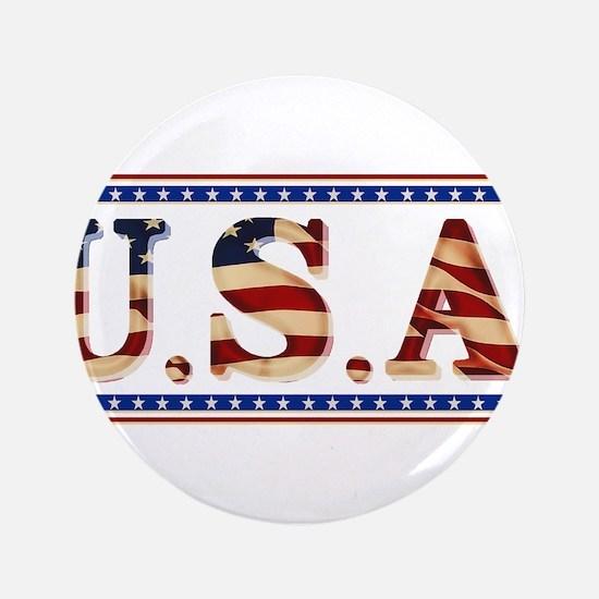 "USA Stars/Strips 3.5"" Button"