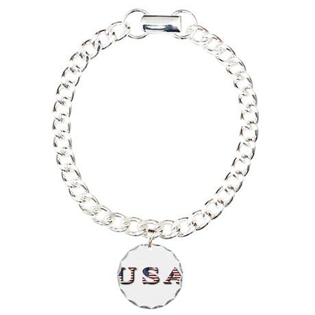 USA Charm Bracelet, One Charm
