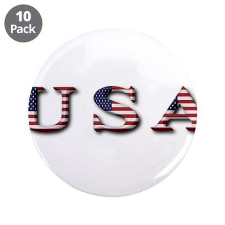 "USA 3.5"" Button (10 pack)"