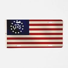 1776 Flag Aluminum License Plate