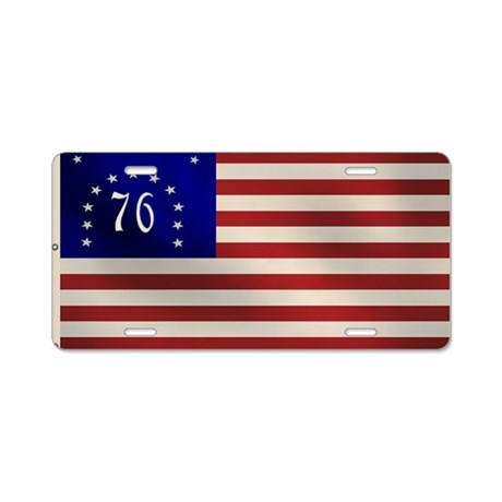 Bennington 1776 Flag Aluminum License Plate