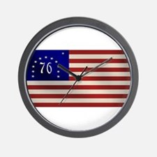 Bennington 1776 Flag Wall Clock
