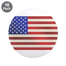 "American Flag 3.5"" Button (10 pack)"