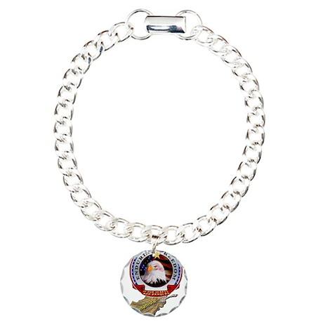 Enduring Freedom Charm Bracelet, One Charm