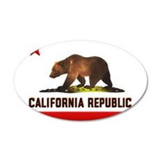 California Bear 22x14 Oval Wall Peel