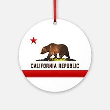 California Bear Ornament (Round)