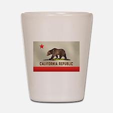 California Bear Flag Shot Glass