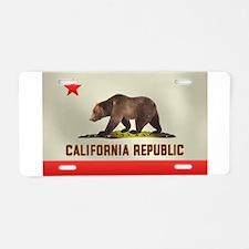 California Bear Flag Aluminum License Plate