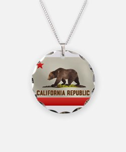California Bear Flag Necklace
