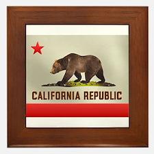 California Bear Flag Framed Tile