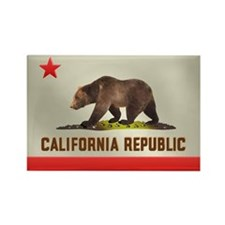 California Bear Flag Rectangle Magnet