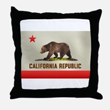 California Bear Flag Throw Pillow