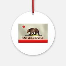 California Bear Flag Ornament (Round)