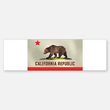 California Bear Flag Bumper Bumper Sticker