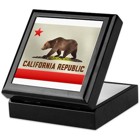California Bear Flag Keepsake Box