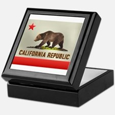 California Bear Flag Keepsake Box