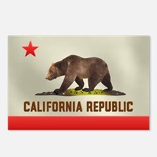 California Bear Flag Postcards (Package of 8)