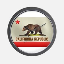 California Bear Flag Wall Clock