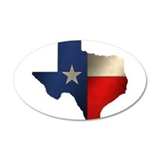 State of Texas 22x14 Oval Wall Peel