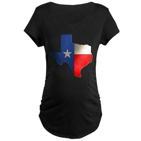 State of Texas Maternity Dark T-Shirt