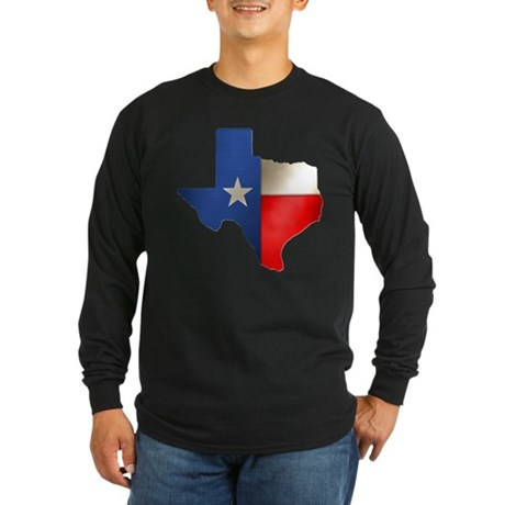 State of Texas Long Sleeve Dark T-Shirt