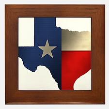 State of Texas Framed Tile