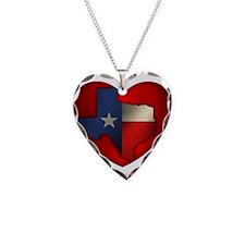 Texas Heart Necklace Heart Charm