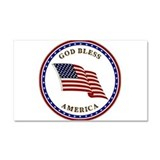 God bless america Car Magnets