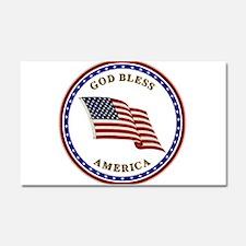 God Bless America Car Magnet 20 x 12