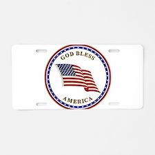 God Bless America Aluminum License Plate