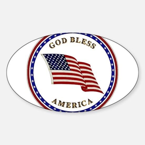 God Bless America Sticker (Oval)