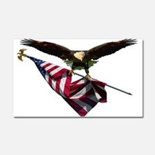 Eagle & Flag Car Magnet 20 x 12