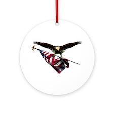 Eagle & Flag Ornament (Round)