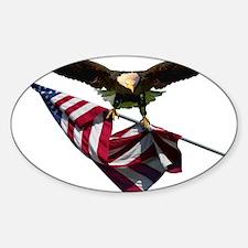 Eagle & Flag Sticker (Oval)