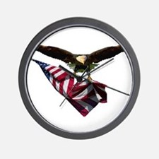 Eagle & Flag Wall Clock