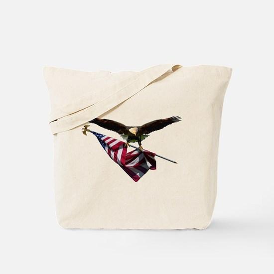 Eagle & Flag Tote Bag