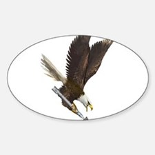 Unique Fighting eagle Sticker (Oval)
