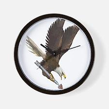 Unique Fighting eagle Wall Clock